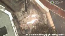Aerial photograph of bomb site in Dresden (picture-alliance/dpa/Polizei Sachsen)