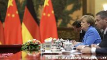 China Peking - Angela Merkel bei treffen mit Xi Jinping