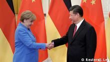 China Peking - Angela Merkel bei treffen mit Xi Jinping (Reuters/J. Lee)
