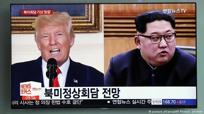USA Nordkorea - Donald Trump und Kim Jong Un - TV