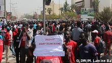 Studentendemo in Dakar