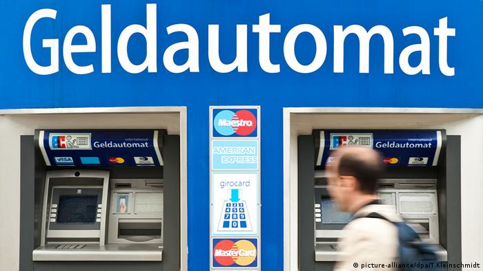 GeldautomatБанкомати на германска улица