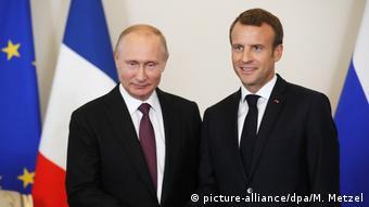 Rusya Devlet Başkanı Putin ve Fransız mevkidaşı Macron