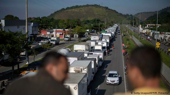 Brazil trucker strike (Getty Images/AFP/M. Pimentel)