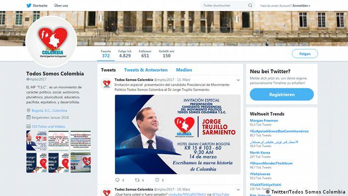 Screenshot Todos Somos Colombia