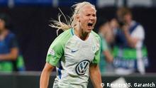 Fußball Frauen - VFL Wolfsburg vs Olympique Lyon - Jubel 1:0