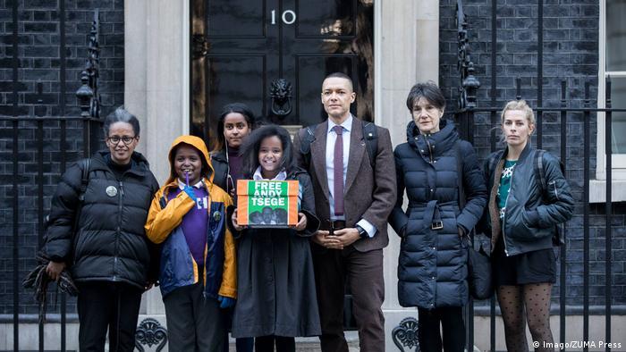 Großbritannien - Protest gegen Haft von Andargachew Tsige