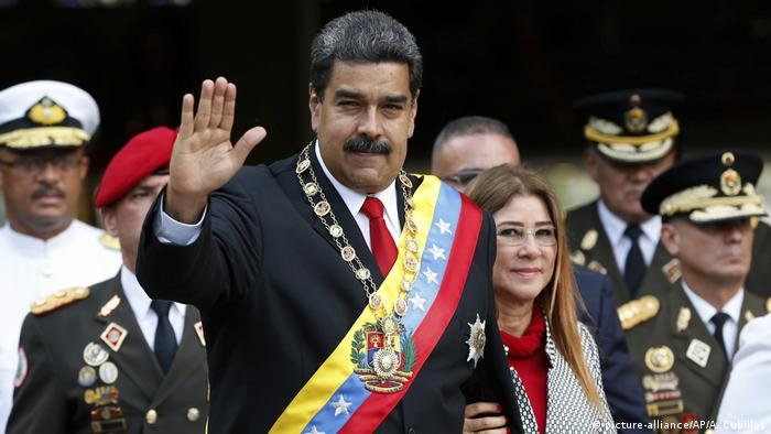 Venezuela Nicolas Maduro at his swearing in ceremony (picture-alliance/AP/A. Cubillos)
