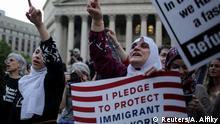 USA New York Demo und Fastenbrechen