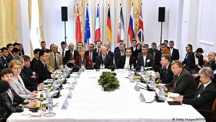 Representatives of the Iran deal signatories gathered in Vienna (Getty Images/AFP/H. Punz)