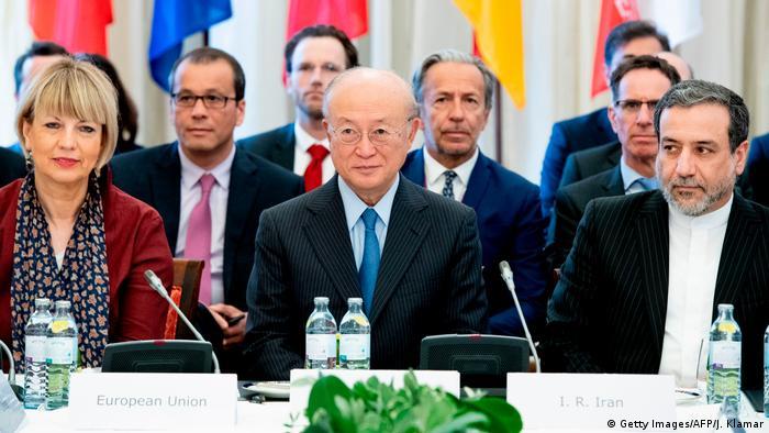 Österreich Wien | Gespräche EU - Iran über Nuklearpolitik | Helga Schmid & Yukiya Amano & Abbas Araghchi