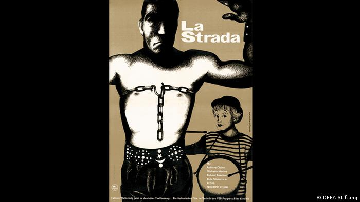 Filmplakat von La Strada. (Foto: DEFA-Stiftung)