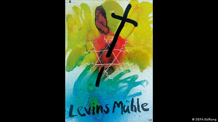 Levins Mühle poster shows a cross piercing the star of david (DEFA-Stiftung)