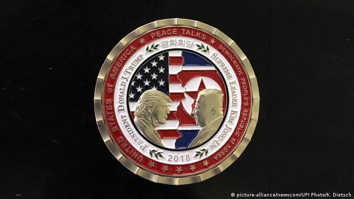 USA Gedenkmünze Treffen Donald Trump & Kim Jong-Un