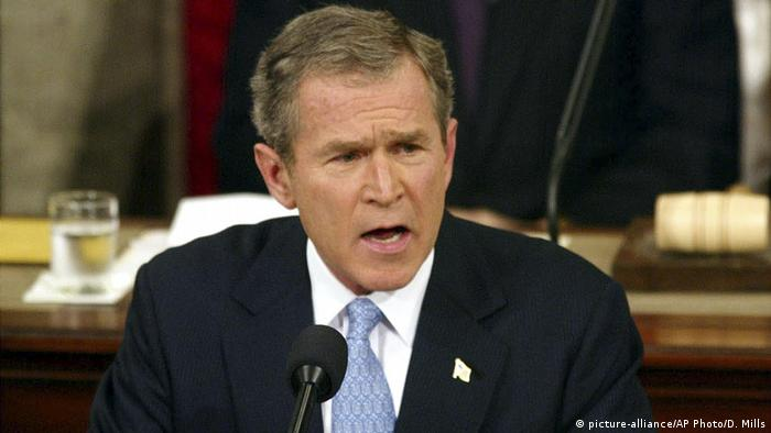 USA State of the Union - Rede George W. Bush (picture-alliance/AP Photo/D. Mills)