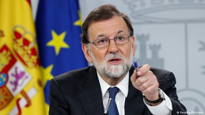 Spanien Madrid - Mariano Rajoy bei Pressekonferenz (Reuters/Stringer)