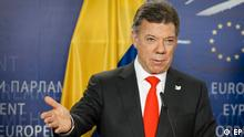 EP President meets with Juan Manuel SANTOS CALDERON - President of Colombia. Press Point