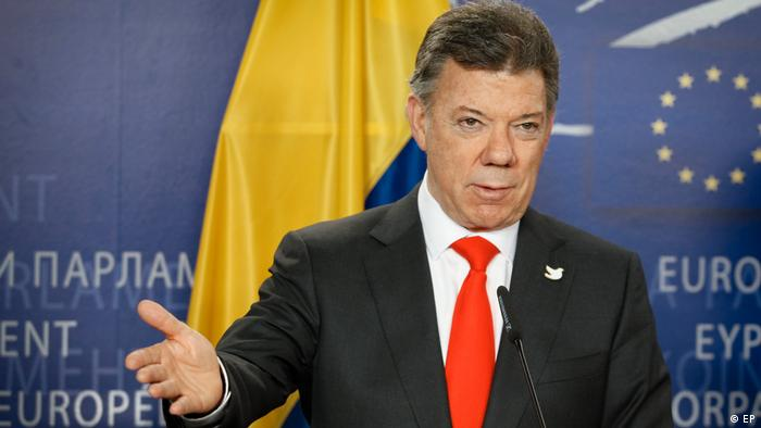 Juan Manuel Santos Calderon Präsident von Kolumbien (EP)
