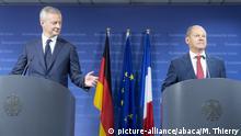 Brüssel Finanzministertreffen Bruno Le Maire und Olaf Scholz