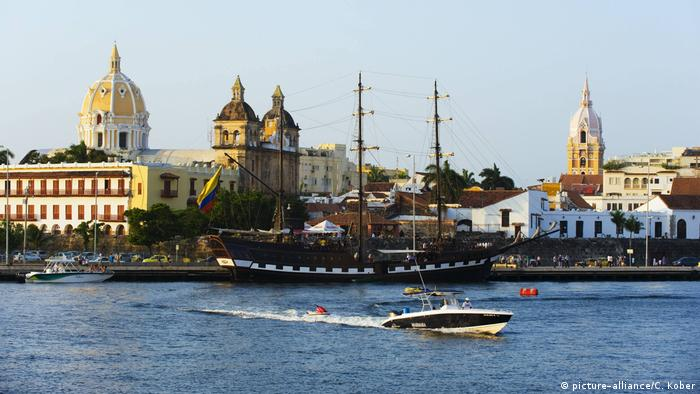 The historic harbor of Cartagena, Colombia. A designated UNESCO World Heritage site that has seen a boost in tourism in recent years.