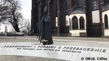 November 2017+++Kirche in Breslau/Wroclaw, wo an den Wechsel der Briefe zwischen der polnischen und den Deutschen Bischöfe im Jahre 1968 erinnert wird, mit dem Satz: Wir vergeben und bitten um Vergebung. Bischof Kominek ist einer der Initiatoren der deutsch-polnischen Versöhnung. (c) DW/Barbara Cöllen
