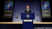 NATO's Secretary General Jens Stoltenberg gives news conference at the Alliance's headquarters in Brussels, Belgium April 27, 2018. REUTERS/Yves Herman