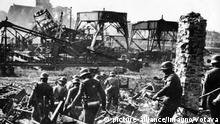 Zweiter Weltkrieg deutsche Soldaten auf der Westerplatte bei Danzig