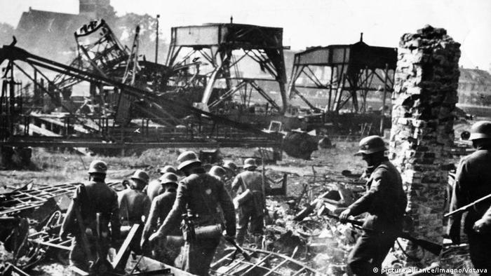 Niemieccy żołnierze po zdobyciu Westerplatte