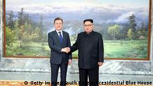 Treffen Regierungschefs Süd- und Nordkorea (Getty Images/South Korean Presidential Blue House)