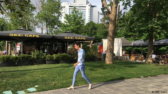 Man walking in Gezi Park