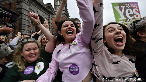 Yes voters celebrate in Dublin (Getty Images/C. McQuillan)
