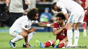 Ukraine, Kiew: Champions League Finale : Mohamed Salah verletzt (Imago/Gribaudi)