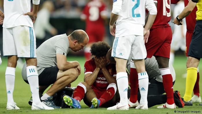 Ukraine, Kiew: Champions League Finale : Mohamed Salah verletzt (Imago/VI Images)