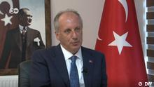 Kandidat Muharrem İnce (Intpartner) im Interview. Copyright: DW