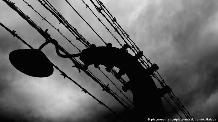 Zasieki w niemieckim obozie konncentracyjnym Auschwitz