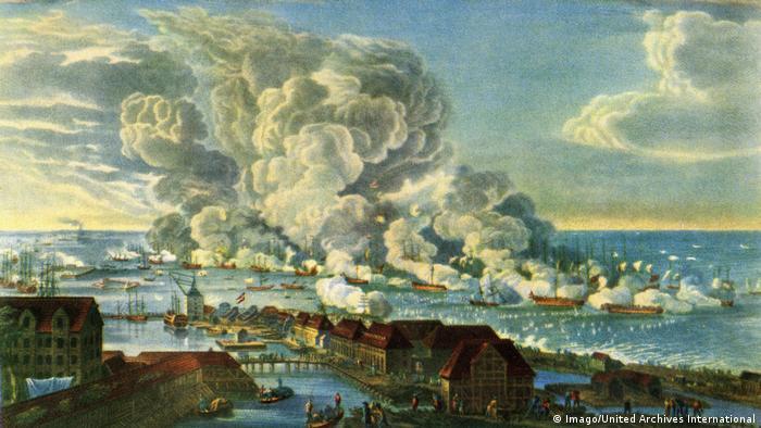 The naval battle at Copenhagen 1801