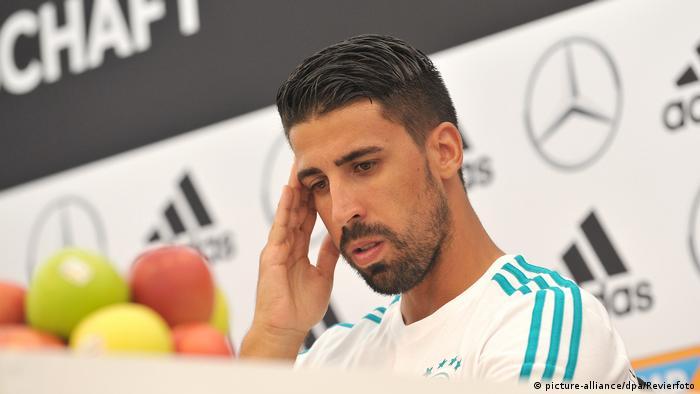 اللاعب الألماني سامي خضيرة لاعب يوفنتوس الإيطالي