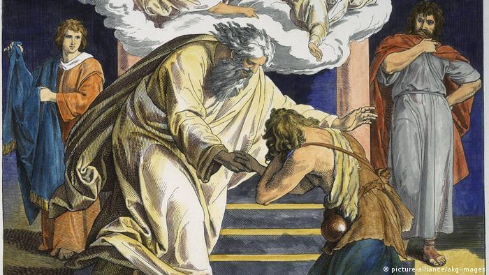Gemälde Bibel-Gleichsnis vom verlorenen Sohn