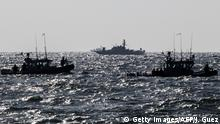 Israeli navy vessels patrolling the Mediterranean Sea during the war in Gaza in 2014.