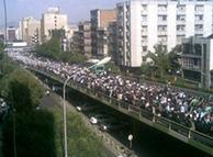 مخالفت با نتیجه اعلامشدهی انتخابات ۲۲ خرداد ۱۳۸۸ موج بزرگی از اعتراض پدید آورد- عکسی از آن اعتراضها