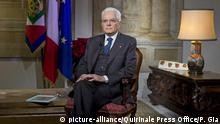 Italien Quirinalspalast Präsident Sergio Mattarella (picture-alliance/Quirinale Press Office/P. Gia)