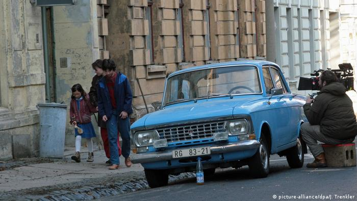 Trabi car and film set for The Tower