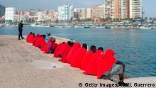 Spanien | Im Mittelmeer aufgegriffene Migranten