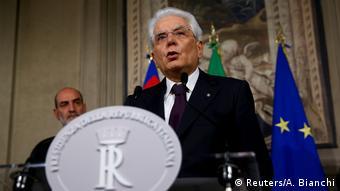 Italien Regierungsbildung gescheitert - Präsident Mattarella