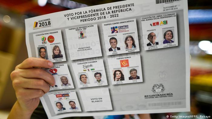 Kolumbien Präsidentschaftswahlen 2018 (Getty Images/AFP/L. Robayo)