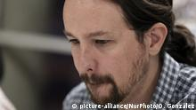 Podemos party leader Pablo Iglesias (picture-alliance/NurPhoto/O. Gonzalez)