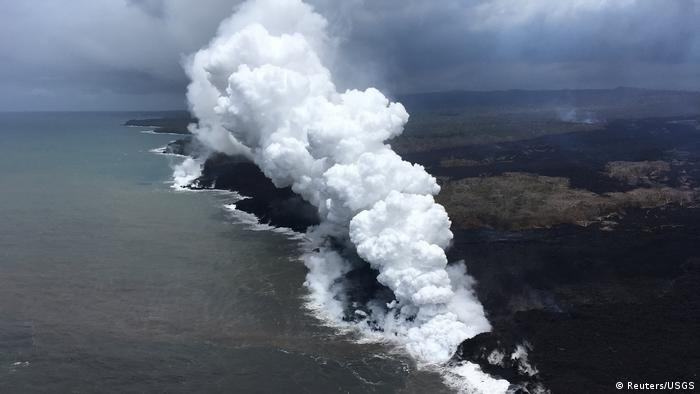 Erupción del volcán Kilauea en 2018.