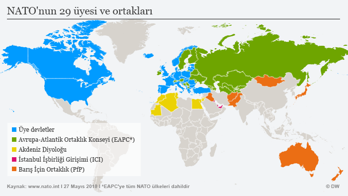 Infografik 29 Mitgliedsstaaten und Partner der NATO TÜ