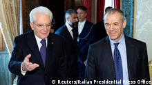Former senior International Monetary Fund (IMF) official Carlo Cottarelli arrives for a meeting with the Italian President Sergio Mattarella at the Quirinal Palace in Rome, Italy, May 28, 2018. Italian Presidential Press Office/Handout via REUTERS ATTENTION EDITORS - THIS IMAGE WAS PROVIDED BY A THIRD PARTY.