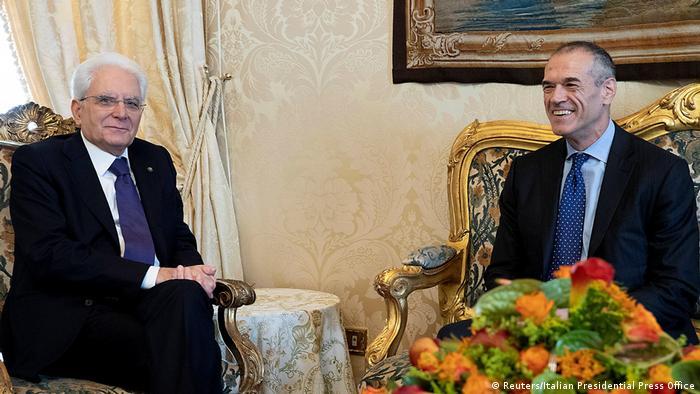 Italien Treffen Carlo Cottarelli mit Präsident Sergio Mattarella (Reuters/Italian Presidential Press Office)